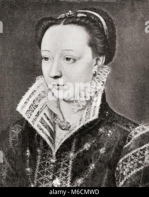 Katharina de' Medici, 1519 - 1589. Italienische Adlige, Königin von Frankreich als Frau von König Heinrich II. Von - Stockfoto