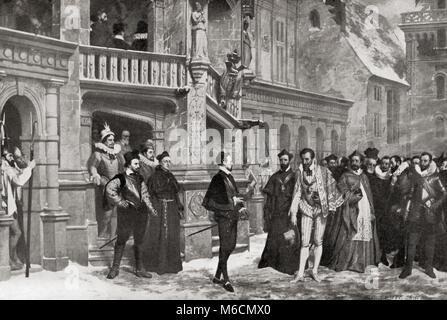 Heinrich III. und den Herzog von Guise im Château de Blois, 1588 vor der Ermordung durch Henry's Bodyguards. Heinrich - Stockfoto