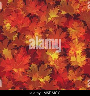 EPS 10 Blätter im Herbst nahtlose Hintergrund. Vector Illustration - Stockfoto