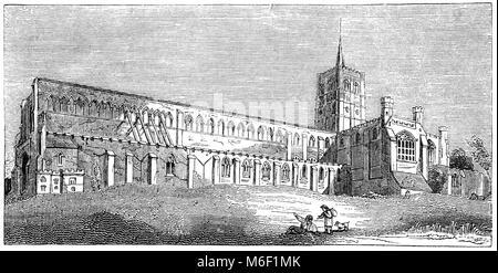 """St Albans Cathedral, formal die Kathedrale und die Klosterkirche von St. Alban und Lokal """"Abtei"""", vermutlich im - Stockfoto"""