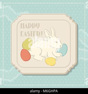 Frohe Ostern retro Grußkarte - Stockfoto