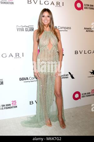 Los Angeles, CA, USA. 4 Mär, 2018. LOS ANGELES - MAR 4: IMG an der Elton John AIDS Foundation Oscar 2018 Viewing - Stockfoto