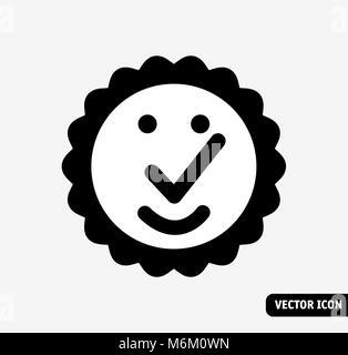 Hochwertige symbol Lächeln schwarze und weiße Symbol. - Stockfoto