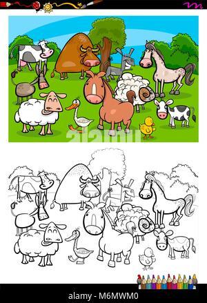 Bauernhof Gans Cartoon für Malbuch Stockfoto, Bild: 103027080 - Alamy