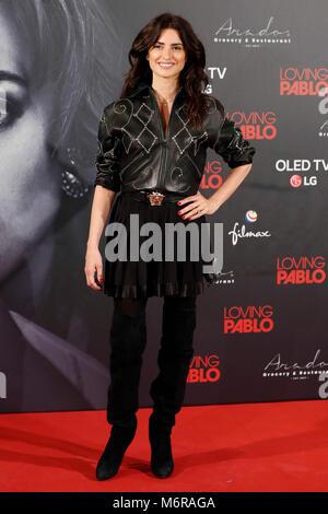 """Madrid, Spanien. 6. März, 2018. Schauspielerin Penelope Cruz bei fotoshooting von """"Loving Pablo"""" Film in Madrid - Stockfoto"""