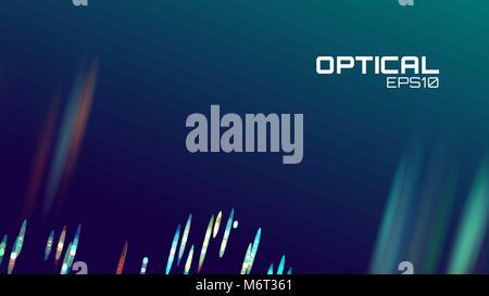 Stripe abstrakt Hintergrund. Objektiv bokeh neon Bewegung. Digital Wave - Stockfoto