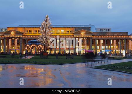 Europäische Stadt auf Silvester und Weihnachten. Stuttgart, Deutschland - Stockfoto