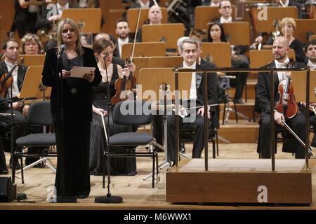 Madrid, Spanien. 6. März, 2018. Während der 16. Ausgabe der Tribute Concert 'Opfer des Terrorismus' in Madrid am - Stockfoto
