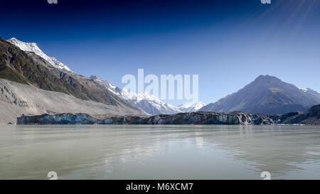Cook Glacier Lake, Mount Cook, Neuseeland - Stockfoto