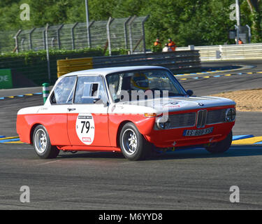 Michel Renavand, Philippe Bonny, BMW 2008 Ti, Le Mans Classic 2016, 2016, Rundstrecke, Classic, Oldtimer, klassische - Stockfoto