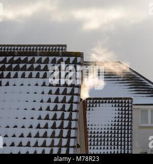 Dampf aus Zentralheizung Vent, größere Manchester, UK Stockfoto ...