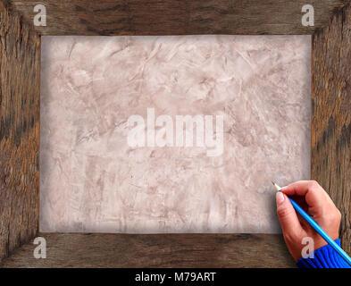 handzeichen es ist eine bleistiftzeichnung stockfoto. Black Bedroom Furniture Sets. Home Design Ideas