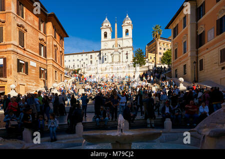 Rom, Italien, 12. Oktober 2016: die Spanische Treppe in Rom, Italien - Stockfoto