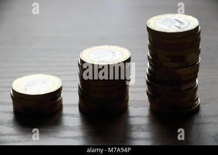 Neue britische Pfund - Stockfoto