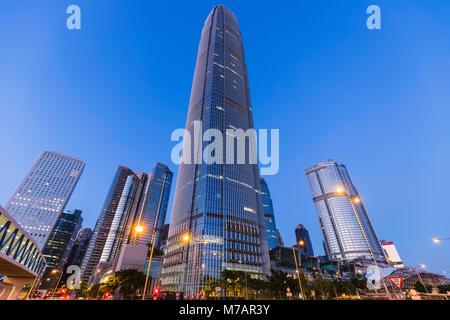 China, Hong Kong, Skyline der Stadt und International Finance Center Building (IFC)