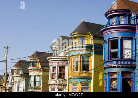 viktorianische h user in haight ashbury san francisco stockfoto bild 4662222 alamy. Black Bedroom Furniture Sets. Home Design Ideas