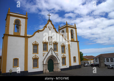 Die Kirche von Praia da Vitoria, auf der Insel Terceira, Azoren, Portugal - Stockfoto