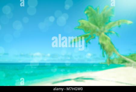 Defokussierten tropischen Strand. Perfekter Urlaub Hintergrund. - Stockfoto