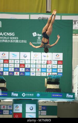 März 10, 2018, Beijing, Peking, China - Peking, China, 10. März 2018: Die Frauen der 3m Sprungbrett Halbfinale der - Stockfoto