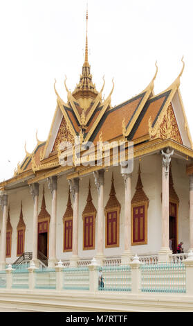 Die Silberne Pagode, Phnom Penh, Kambodscha, Asien, aka Wat Preah Keo Morakot, oder Wat Ubaosoth Ratanaram, am gleichen - Stockfoto