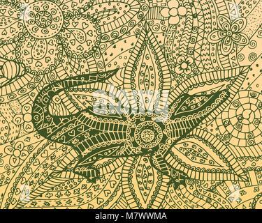 Krokodil Vector Illustration. Alligator zen Wirrwarr, zen Doodle ...