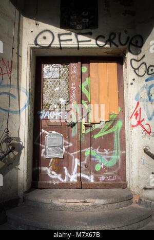 Graffiti in Halle, Sachsen-Anhalt, Deutschland. - Stockfoto