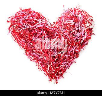 Isolierte Konfetti Herzform Streamer - Stockfoto