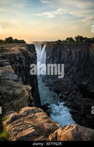 Victoria Falls in Zimbabwe - Stockfoto