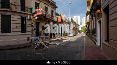 """San Telmo ('Saint Pedro González Telmo"""") ist das älteste (Barrio) von Buenos Aires, Argentinien. Es ist eine gut - Stockfoto"""