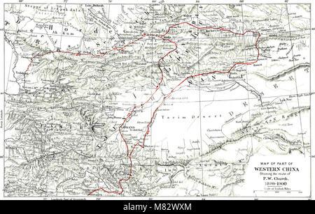 Chinesisch Turkestan mit Wohnwagen und Gewehr (1901) (14594951057) - Stockfoto