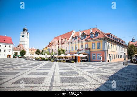 Schönen Hauptplatz in Hermannstadt, Siebenbürgen, Rumänien - Stockfoto