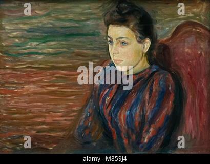 Edvard Munch: sitzen junge Frau (1892) - Stockfoto