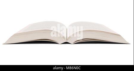 Buchen Sie auf einem weißen Hintergrund geöffnet. - Stockfoto