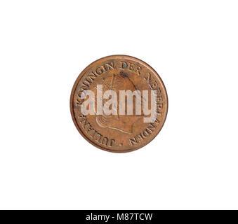 5 Cent Münze Königin Juliana Niederlande 1954 Stockfoto Bild