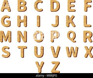 Sammlung von jedem englischen Alphabet Buchstaben auf weißem ...