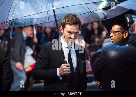 "London, UK, 8. Oktober 2014, Benedict Cumberbatch, ""die Nachahmung Spiel 'Opening Night Gala der BFI London Film - Stockfoto"