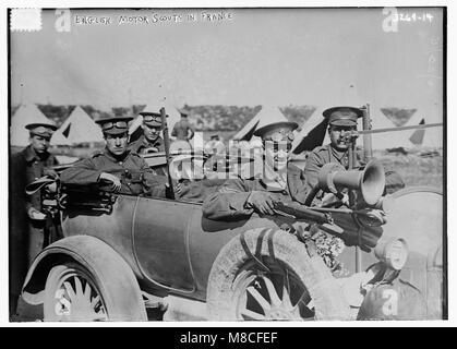 Englisch Motor Pfadfinder in Frankreich LCCN 2014697855 - Stockfoto