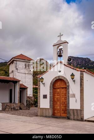 Kapelle von San Pedro in Afur, Anaga, Teneriffa, Kanarische Inseln, Spanien - Stockfoto