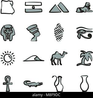 Wahl Symbole Freehand 2 Farbe - Stockfoto