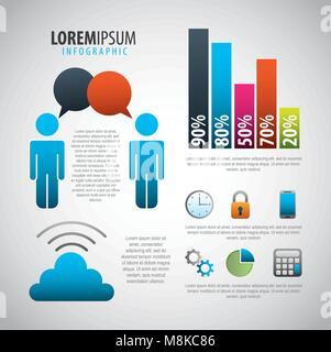 Infografik Elemente Bild - Stockfoto