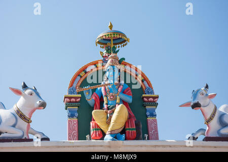 Krishna Statue am Sri Mariamman Tempel, South Bridge Road, Chinatown, Outram District, Central Area, Singapur Insel - Stockfoto