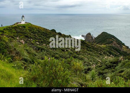 Cape Reinga Leuchtturm, Nordinsel, Neuseeland - Stockfoto