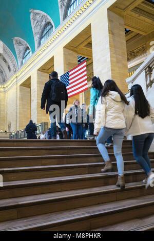 Grand Concourse und Treppe im Grand Central Terminal, New York City, USA - Stockfoto