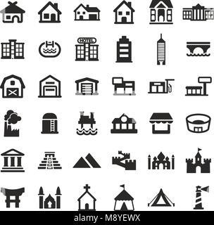 Gebäude Symbole - Stockfoto