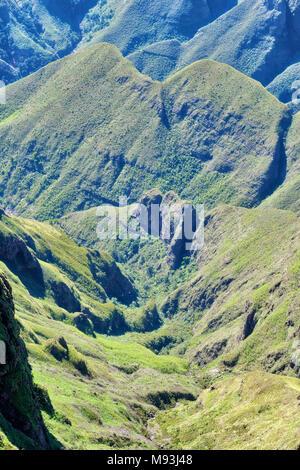 Drakensberge Amphitheater in Südafrika im Jahr 2015 getroffen - Stockfoto