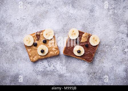 Sandwiches in Form von Bear - Stockfoto
