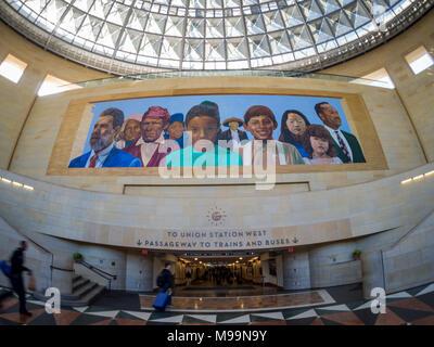 Los Angeles, Feb 3: Innenansicht des berühmten Union Station am Mar 3, 2018 in Los Angeles