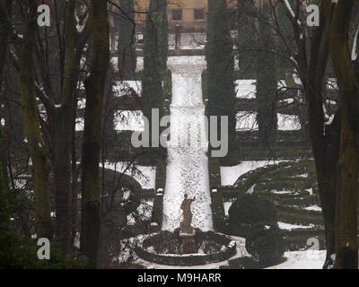 Ein wintertag in den gärten des palazzo giardino giusti verona