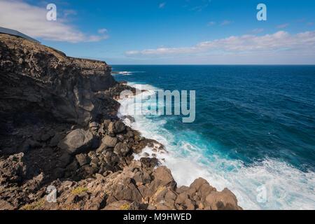 Küste Landschaft in Buenavista, im Norden der Insel Teneriffa, Kanarische Inseln, Spanien. - Stockfoto