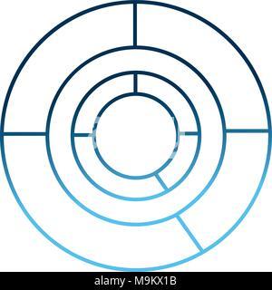 kreis diagramm diagramm vektor icon modernes design. Black Bedroom Furniture Sets. Home Design Ideas